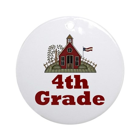 New Teacher Gift 4th Grade Ornament (Round)