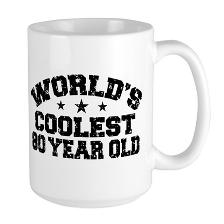 World's Coolest 80 Year Old Large Mug