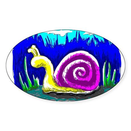Snail Tail Sticker (Oval)
