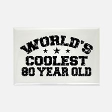 World's Coolest 80 Year Old Rectangle Magnet