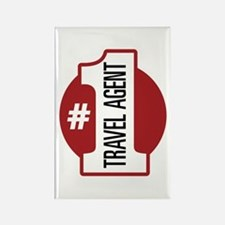 #1 Travel Agent Rectangle Magnet