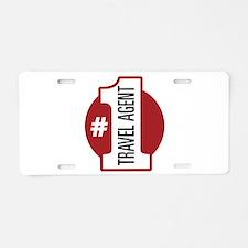 #1 Travel Agent Aluminum License Plate