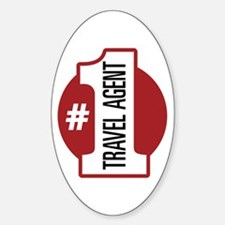 #1 Travel Agent Decal