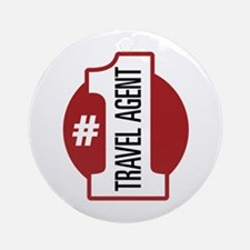 #1 Travel Agent Ornament (Round)