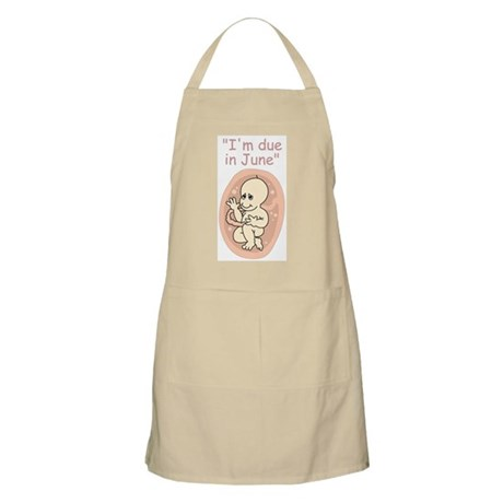 June due date baby cartoon BBQ Apron