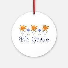 Best Teacher Gift 4th Grade Ornament (Round)