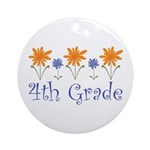 Best Teacher Gift 4th Grade Ornament (Round)