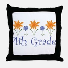 Best Teacher Gift 4th Grade Throw Pillow
