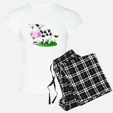 Cute Cow Milk Pajamas