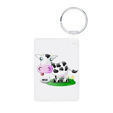 Cute Cow Milk Keychains