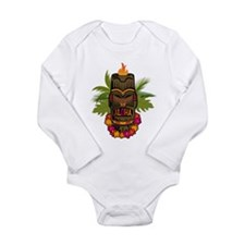 Tiki Aloha Long Sleeve Infant Bodysuit