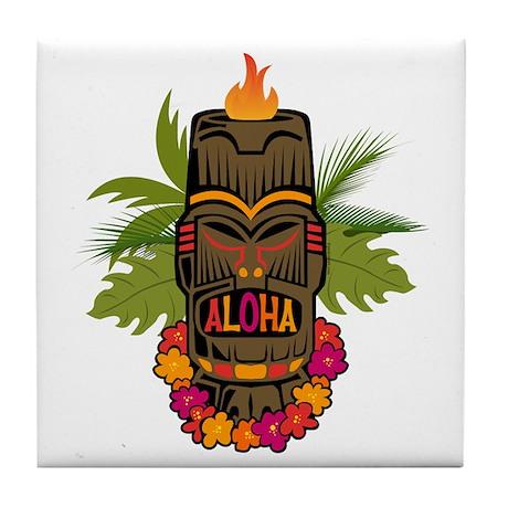 Tiki Aloha Tile Coaster