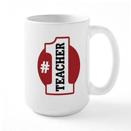 #1 Teacher Large Mug