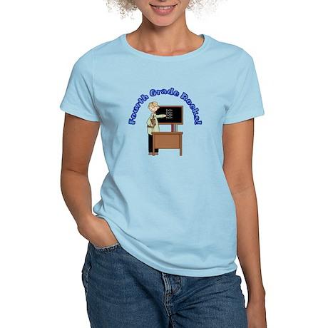 Present Teacher 4th Grade Women's Light T-Shirt