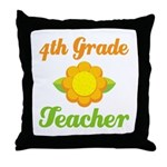 Year End Gift 4th Grade Teacher Throw Pillow