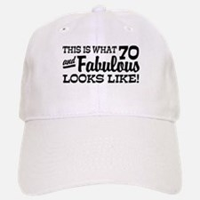 Funny 70th Birthday Baseball Baseball Cap