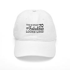 Funny 70th Birthday Baseball Cap