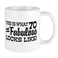 Funny 70th Birthday Small Mug
