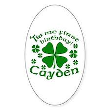 Custom Birthday for Cayden Decal
