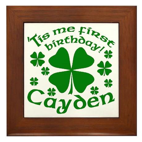 Custom Birthday for Cayden Framed Tile