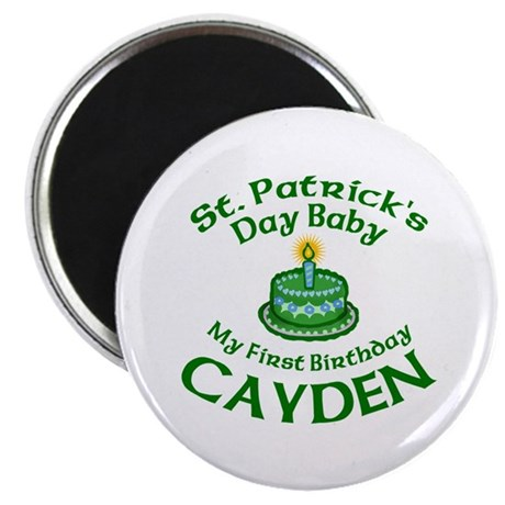 First Birthday for Cayden Magnet
