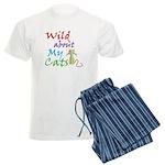 Wild about My Cats Men's Light Pajamas