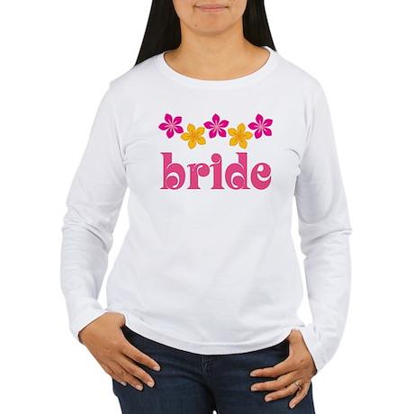 Bride Hawaiian Tropical Flowers Women's Long Sleev