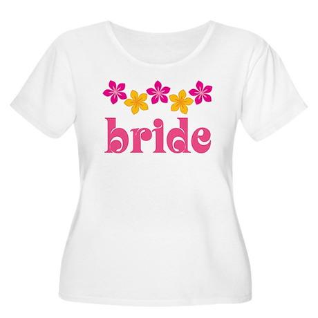 Bride Hawaiian Tropical Flowers Women's Plus Size