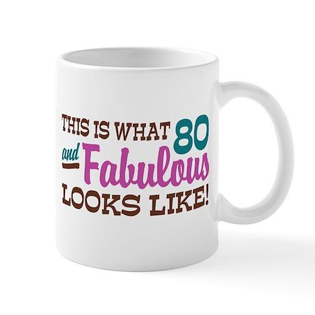 Funny 80th Birthday Mug
