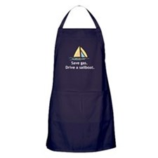 Drive A Sailboat! Apron (dark)