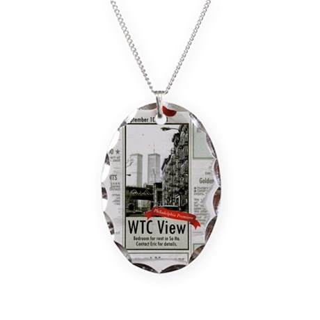WTC View Necklace Oval Charm