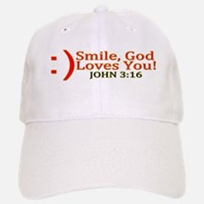 Smile, God Loves You! Baseball Baseball Cap