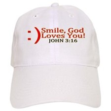 Smile, God Loves You! Baseball Cap