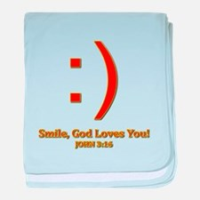 Smile, God Loves You! baby blanket
