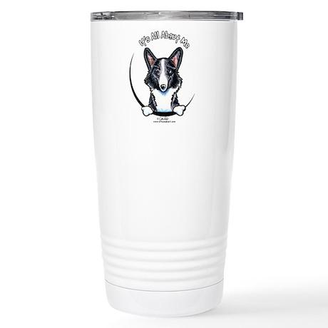 Merle Corgi IAAM Stainless Steel Travel Mug