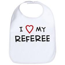 I Love Referee Bib