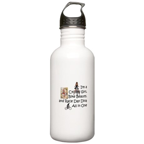 Cycling Race Diva Stainless Water Bottle 1.0L