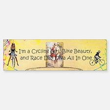 Cycling Race Diva (bumper) Bumper Bumper Bumper Sticker