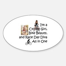 Cycling Race Diva Decal