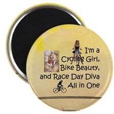 Cycling Race Diva Magnet Magnets
