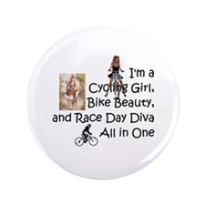 "Cycling Race Diva 3.5"" Button"