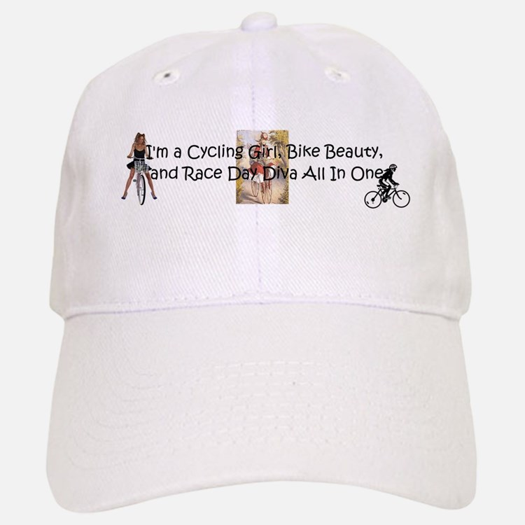 Cycling Race Diva Baseball Baseball Cap