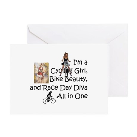 Cycling Race Diva Greeting Card