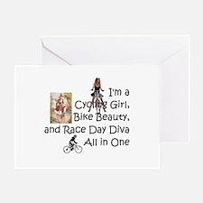 Cycling Race Diva Greeting Card