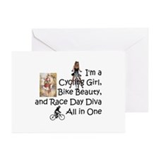 Cycling Race Diva Greeting Cards (Pk of 10)