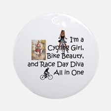 Cycling Race Diva Ornament (Round)