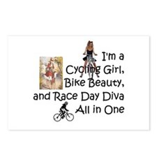 Cycling Race Diva Postcards (Package of 8)