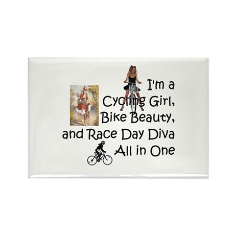 Cycling Race Diva Rectangle Magnet Magnets