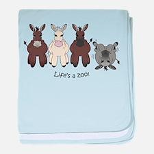 Med. Miniature Donkey baby blanket