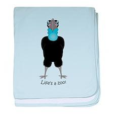 Hornbill baby blanket